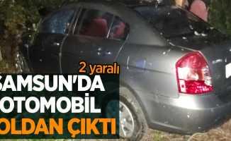Samsun'da otomobil yoldan çıktı