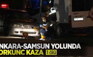 Ankara-Samsun yolunda korkunç kaza: 1 ölü