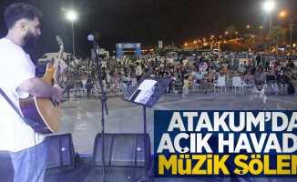 Atakum'da açık havada müzik şöleni
