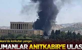 Dumanlar Anıtkabir'e ulaştı! Ankara'da korkutan yangın
