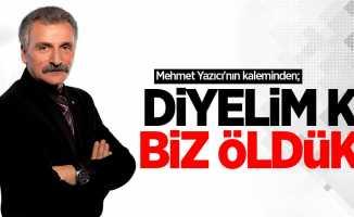 Mehmet Yazıcı'nın kaleminden; Diyelim ki biz öldük!