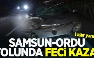 Samsun-Ordu yolunda feci kaza: 1 ağır yaralı
