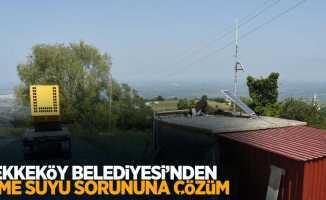 Tekkeköy Belediyesi'nden içme suyu sorununa çözüm