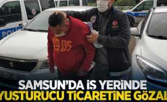 Samsun'da iş yerinde uyuşturucu ticaretine gözaltı