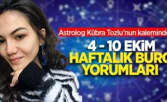 Astrolog Kübra Tozlu'dan 4-10 Ekim haftalık burç yorumları