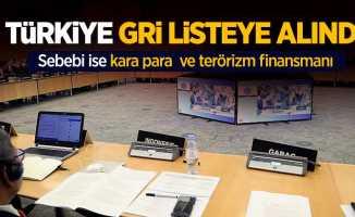 Türkiye gri listeye alındı...