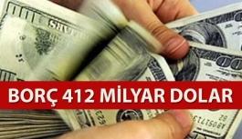 Dış borç 412 milyar dolar