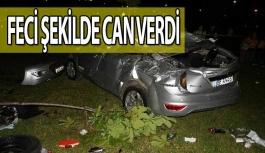 Otomobil Üst Geçitten Uçtu: 1 Ölü