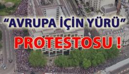 """İngiltere'de """"Avrupa İçin Yürü"""" protestosu."""