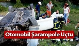 Otomobil Şarampole Uçtu