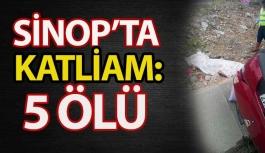 Sinop'ta Tır otomobili biçti: 5 ölü, 1 yaralı