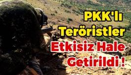 PKK'lı Teröristler Etkisiz Hale Getirildi