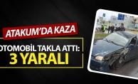 Atakum'da Otomobil Takla Attı: 3 yaralı