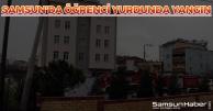 Samsun'da Öğrenci Yurdunda Yangın