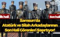 Samsun'da Atatürk ve Silah Arkadaşlarının Heykeli Görenleri Üzüyor