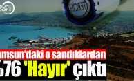 Samsun'daki o sandıklardan yüzde 76 'Hayır' çıktı