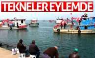 Samsun Limanı'na protesto: Gemilerle çıkarma yaptılar