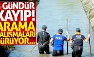 Sulama kanalında kaybolan genci arama çalışmaları sürüyor