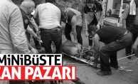 İşçileri taşıyan minibüs şarampole yuvarlandı