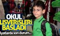 Samsun'da okul alışverişi başladı
