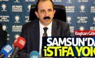 Başkan Göksel: Samsun'da istifa yok