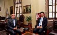 Ladik Kaymakamı ve THY Müdürü, Başkan Yılmaz'ı ziyaret etti