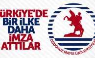 OMÜ Türkiye'de bir ilke imza attı