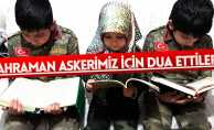 Asker kıyafeti giyip dua ettiler