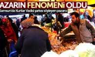 Samsun'da Kurtlar Vadisi şarkısı söyleyen pazarcı