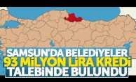 Samsun'daki belediyelere 93 milyon kredi