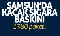 Samsun'da kaçak sigara baskını