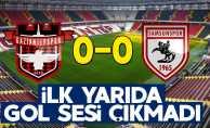 Samsunspor 0-0 Gaziantepspor (İlk yarı sonucu)