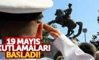 Samsun'da 19 Mayıs coşkuyla kutlanıyor