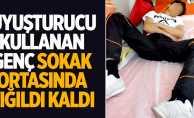 Samsun'da uyuşturucu kullanan genç, yığıldı kaldı