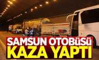 Samsun'dan yola çıkan otobüs kaza yaptı