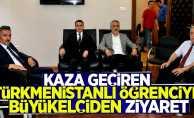 Go-kart kazasına Türkmenistan Büyükelçisi'nden ziyaret