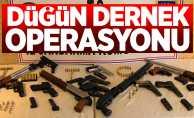 Jandarmadan düğün dernek operasyonu: 14 silaha el konuldu