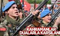 Karadeniz'de PKK'lı teröristleri öldüren askerler dualarla karşılandı