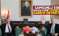 Samsunlu eski Sağlık Bakanı görevi devretti