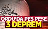 Ordu'da peş peşe 3 deprem