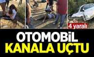 Otomobil sulama kanalına uçtu: 4 yaralı
