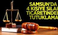 Samsun'da 4 kişiye silah ticaretinden tutuklama