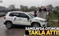 Samsun'da otomobil kaza yaptı! 3 yaralı