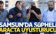 Samsun'da şüpheli araçta uyuşturucu ele geçirildi