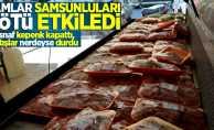 Zamlar Samsun'u kötü etkiledi! Esnaflar kepenk kapatıyor