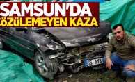 Samsun'da çözülemeyen kaza