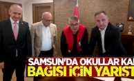 Samsun'da okullar kan bağışı için yarıştı