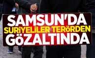 Samsun'da Suriyeliler terörden gözaltında