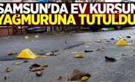 Samsun'da ev kurşun yağmuruna tutuldu