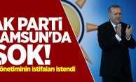 AK Parti Samsun'da şok! İl yönetiminin istifaları istendi